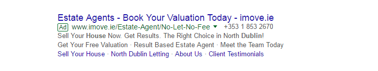 Real estate ads with testimonials