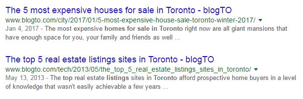 Numbers in real estate title tags