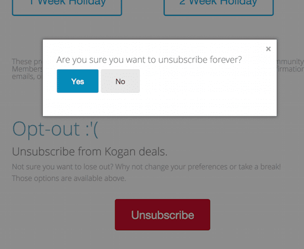 Unsusbcribe emails