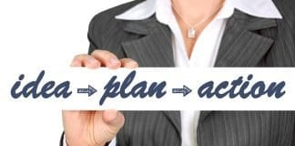 Idea, plan, action real estate business
